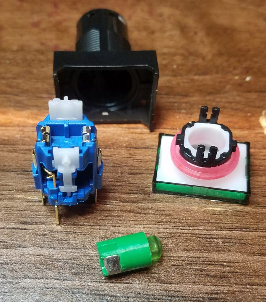Disassembled switch